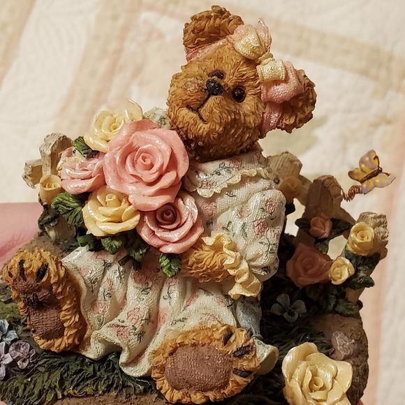 The Boyd Collection Rose Garden Bear Candle Topper